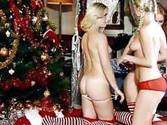 Gorgeous blonde and redhead lesbians licking and fingering pussy in a three way lesbian orgy