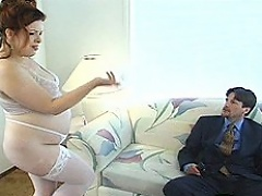 Sexy redhead hooker Scarlette Kitty accidentally got knocked up by...