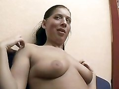 Sweet German girl shows off and lets guy touch her