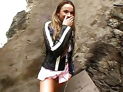 Gorgeous teen girl gets crotch licked