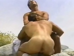 Guy lovingly swallows parteners horse-dick down his throat...