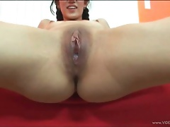 Asian Takes A Creampie From A Big Black Cock