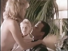 Sexy Blonde Babe Elina Madison Strips From Her Hot Vintage Lingerie