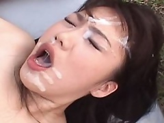 Large breasted Mai Nadasaka having sex in public. Watch her engulf rods and fuck outdoors  get her snatch pleasured with toys and acquire cum in her m