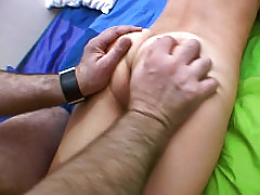 Hot babe get all of holes screwed