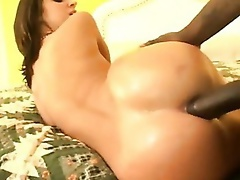Two round assed cuties getting wet holes licked and nailed