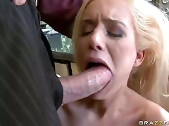 Large Breasted Mariah Madysin Gags On Boss' Large Dick