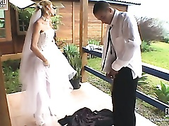 Amazing butt pumping wedding with kinky shemale having her way with a chap