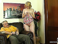 Naughty coed summoned to the older headmaster learning fucking techniques