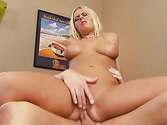 Riley Evans was ready for some anal.  Her butt was begging for some attention and this voluptuous blond coed widen wide to take her lad toy's lar