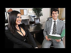 Eva lands a job working for a sales company! But this babe has a problem coming to work and wearing her pants. After unintentionally flashing the offi