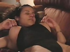 Frisky gadget reminds of her last night and begins pinching the hard nipples! Oh, it was so hot! She quickly slides panties aside and reaches orgasm!
