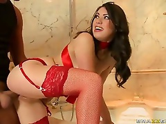 Good anal HD porn with lady in red Tiffany Doll