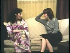 Vintage lesbian porn with these two classic bitches licking their hairy snatches