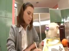 Naughty schoolgirl likes popsicles but loves a nice hard cock