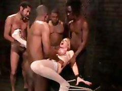 Sex party with all these horny babes taking on a big black cock