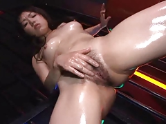 Oiled Japanese Girl Stripping And Masturbating (UNcensored)