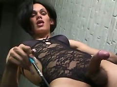 This gorgeous twenty-five year old American tranny is Foxi and she is...