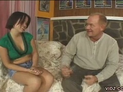 Young kaci star gets cunt beaten by old dude
