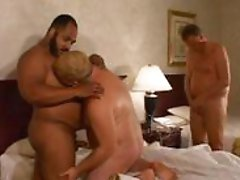 Three fatties have fun fucking one another eagerly