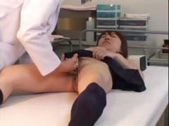 Young Asian schoolgirl comes in for a check-up and gets fingered by the doctor