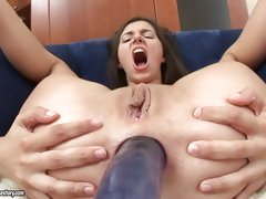 Porn pro Monica takes huge cock in the ass and and loves every bit of it