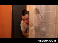 Toilet femdon action with naughty mistresses and hot slave